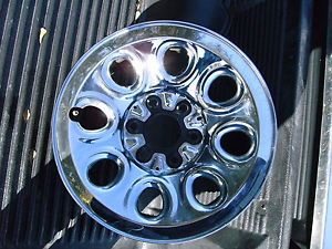 "2000 2013 Chevy Silverado Sierra Chrome 17"" Steel Wheel Wheels Rims Factory"