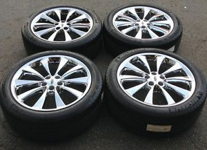 "20"" Lincoln MKS Chrome Wheels Rims Tires 3824"