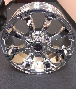 "Ballistic Morax 845 20"" Wheels Chrome Offroad Jeep for Chevy Dodge"