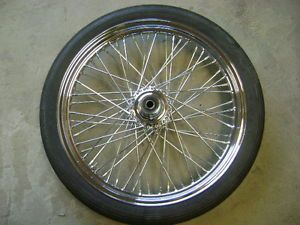 "Harley Davidson Chrome 21"" 60 Spoke Wide Glide Wheel Single Disc Softail Dyna"