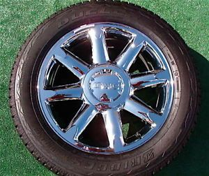 Set 4 New 2012 Genuine Factory GMC Yukon Denali Chrome 20 inch Wheels Tires