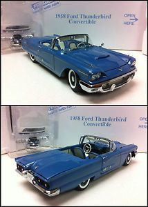 Danbury Mint 1958 Ford Thunderbird Original Box All Accessories Gorgeous Blue