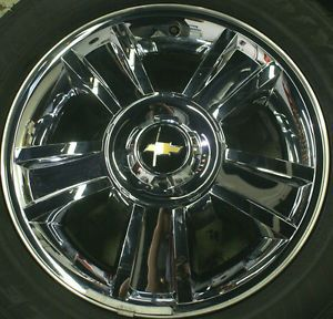 Chevy Silverado Tahoe Suburban Avalanche LTZ Chrome 20 Wheels Rims Tires