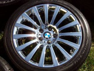 "19"" BMW Factory 7 Series Wheels 740 750 760 F01 F02 RFT Tires Sport Chrome"