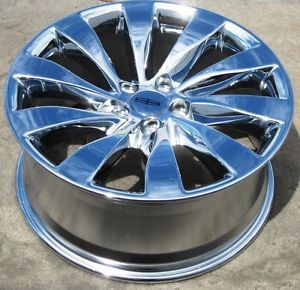 "Exchange Your Stock 4 New 19"" Factory Lincoln MKS Chrome Wheels Rims 09 13"