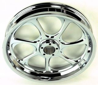 "For Harley Eliminator by PM Chrome Billet Wheel 19x2 15"" NH"