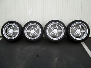 "Iforged Corvette Forged Aluminum Chrome Wheels C6 18"" 19"" Michelin Pilot HRE"