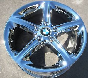 "New 18"" Factory BMW 128i 135i Chrome Wheels Rims 1 Series Set of 4"