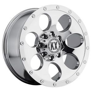 17 inch KX Offroad CP41 Chrome Wheels Rims 6x135 F150 Expedition Navigator 6 Lug