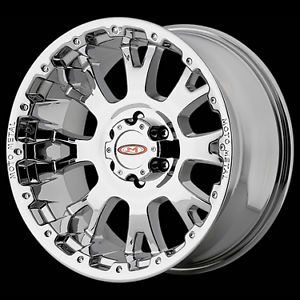 "17"" x 9"" Moto Metal MO956 8x170 F250 F350 Superduty 2005 Chrome Wheels Rims"