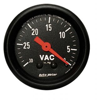 Auto Meter 2610 Z Series Mechanical Vacuum Gauge