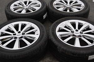 "Lincoln MKS 19"" Chrome Wheels Rims Tires 3766"
