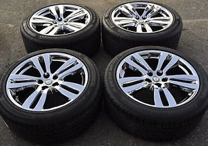 "19"" Jaguar XJ Tobia PVD Chrome Wheels Rims Tires Factory Wheels 59873"