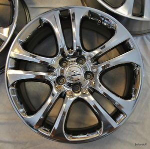 "19"" Chrome Acura MDX Pilot 4X Factory Wheels Rims Very Clean Condition"