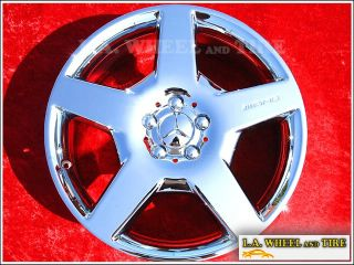 "Exchange Set of 4 Chrome Mercedes Benz ML500 R500 AMG 19"" Wheels Rims 65368"