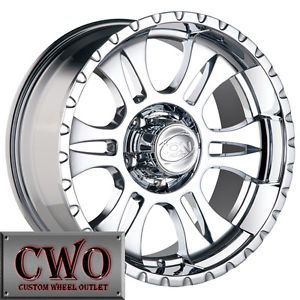 18 Chrome ion 195 Wheels Rims 8x165 1 8 GMC Chevy 2500 HD Dodge RAM 2500