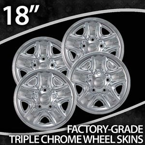 "2007 2013 Toyota Tundra 18"" Chrome Wheel Skins"
