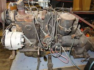 1955 Dodge 6 Cylinder Complete Motor Engine Truck Dodge Transmission