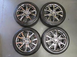 "Infiniti 2013 G37S 18"" Sport Sedan Black Chrome Wheels Rims Tires Set"