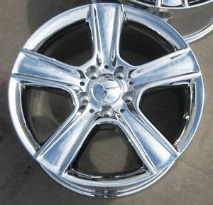 "Exchange Stock 4 New 17"" Factory Mercedes C300 C350 Chrome Wheels Rims 2008 12"