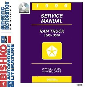 1996 Dodge RAM Truck Shop Service Repair Manual CD Engine Drivetrain Electrical