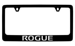 Nissan Rogue Black Coated Metal License Plate Frame