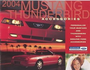 2004 Ford Mustang and Thunderbird Accessories Brochure