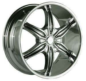 24 inch Azari 282 Chrome Wheels Rims 6x135 F150 Expedition Navigator 6 Lug