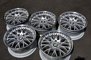 BMW Style 42 17 inch BBs Wheels Polished Lips Set of Five E39 5 Series