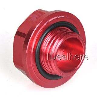 Red Mugen Power Oil Fuel Filler Fill Tank Cap Cover Plug for Honda Auto