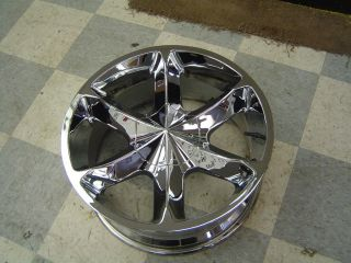 Aftermarket Set of 4 Chrome Wheels 20x9 w 5x5 Bolt Pattern