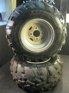 22x11x10 Titan All Terrain ATV Tires Rim Polaris Scrambler Rear Pair Wheel