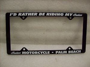 Indian Motorcycle Auto License Plate Frame