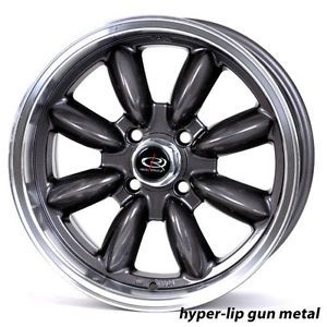 17 Rota RB Gunmetal Rims Wheels Tires Mini Cooper Clubman s 205 45 17 Hankook