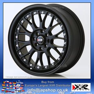 XXR 521 17 inch ET38 4x100 114 Flat Black BBs Style Alloys Rims Wheels Z1562