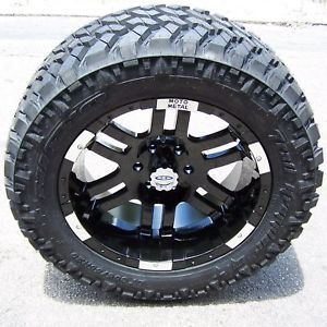 "20"" Black Motometal 951 Wheel 33"" Nitto Trail Grappler Tires Toyota Tundra 5x150"