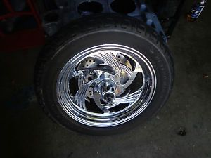 Harley Custom Chrome Billet Front Wheel with Harley Davidson Dunlop Tire