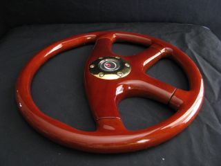 "New 15"" Custom Mahogany Wood Grain Steering Wheel"