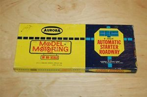 Vintage Aurora Model Motoring HO Scale Slot Car Automatic Starter Roadway in Box
