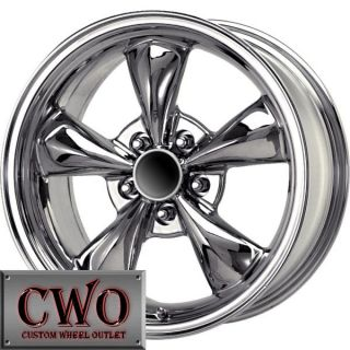 18 Chrome Replica Bullitt Wheels Rims 5x114 3 5 Lug Mustang 350Z G35 Crown Vic