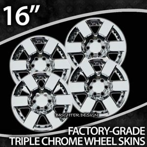 "06 10 Nissan Frontier 16"" Chrome Wheel Skins"