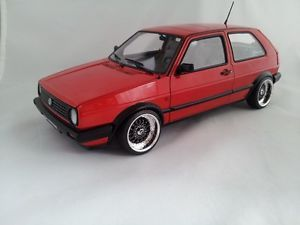 1 18 Scale VW Volkswagen Golf MK2 CL Red with BBs RS Wheels