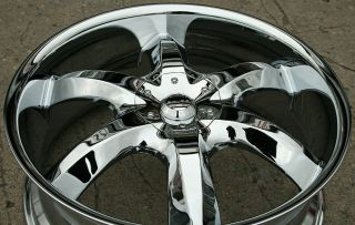 "Akuza Lacuna 760 22"" Chrome Rims Wheels VW EOS Tiguan CC 22 x 8 5 5H 35"