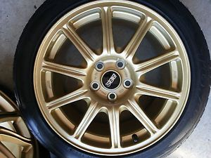 Original Subaru WRX STI BBs Gold Rims and Tires Mint Condition