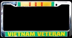 Vietnam Veteran 3D Military Car Truck License Plate Frame