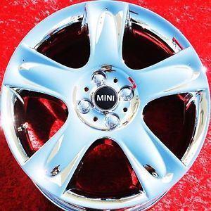 "Exchange Set of 4 New Chrome 17"" Mini Cooper s Clubman Wheels Rims 59498"