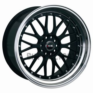 "XXR 521 17"" 7J ET38 4x114 3 4x100 Black Lip Tuner BBs Alloys Rims Wheels Z1563"