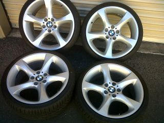 "19"" BMW Factory 230 BBs Wheels Tires Rims 328 335 328i 335i Excellent"