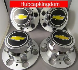 6 Lug Chevy 1500 Silverado Suburban Blazer Wheel Center Cap Set New