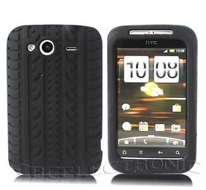 New Black Tire Design Silicone Case Soft Cover for HTC Wildfire s G13